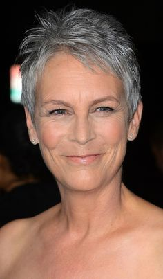 Jamie Lee Curtis - I'm tempted to go back to grey! She looks great!!