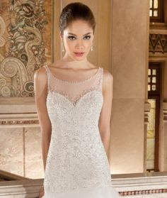 Demetrios 2015 Preview Style 568 by Demetrios available now at Macy's Bridal Salon in Chicago #macysbridalsalon #chicago #demetrios