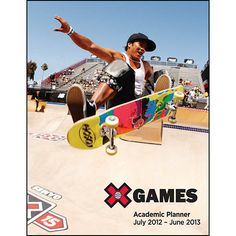 X Games Skateboarding Academic Notebook Planner: Popping easily into a standard size 3-ring binder, this calendar is ideal for keeping track of homework, tests, papers, sports stuff and all the other important dates and responsibilities of a student's everyday life.  $6.99  http://calendars.com/Board-Sports/X-Games-Skateboarding-Academic-2013-Notebook-Planner/prod201300005403/?categoryId=cat00478=cat00478#