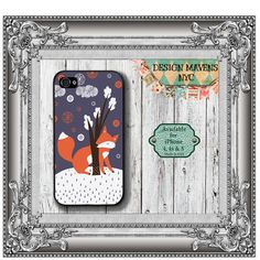 Forest Fox iPhone Case, Hard Plastic iPhone Case, Fits iPhone 4, iPhone 4s, iPhone 5 & iPhone 5s, Phone Cover, Phone Case on Etsy, $17.99