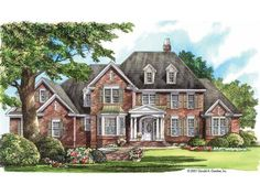 probably my first choice for the exterior design. But with an extended porch on front extending to the right. floor plan