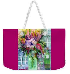 Birthday Flowers Still life Weekender Tote Bag x by Sabina Von Arx. The tote bag includes cotton rope handle for easy carrying on your shoulder. Spring Flower Bouquet, Spring Flowers, Weekender Tote, Tote Bag, Beach Towel Bag, Colour Images, Basic Colors, Bag Sale, Color Show