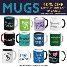 Want merch for BOOK LOVERS? Check out http://beetifulthings.com . Buy today and save! Merch sold by Zazzle, designed by Beetiful. #bookmerch #cybermonday #zazzle #bookworm #books #authors #librarians #sale #writers