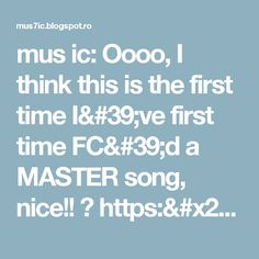 mus ic: Oooo, I think this is the first time I've first time FC'd a MASTER song, nice!! ☆ https://t.co/WdzmC0Mavo
