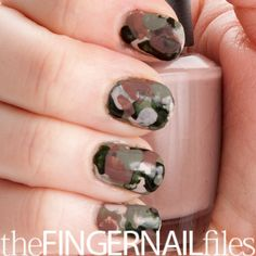 Camouflage via The Finger Nail Files