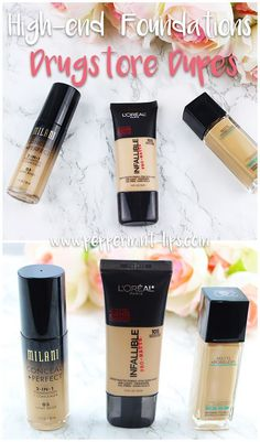 Bestselling High-End Foundations Dupes: L'oreal Infallible, Maybelline Fit Me Matte Great Drugstore Dupes
