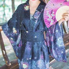 Harajuku galaxy Japanese kimono bathrobe