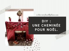 Fabriquer une cheminée pour Noël, c'est facile ! DIY • Famille Plume Diy, Wrapping Papers, Cardboard Paper, Christmas Fireplace, Light Garland, Feather, Bricolage, Do It Yourself, Homemade