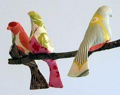 látková ptáček střih, jak ušít práčka, pátkový pták návod