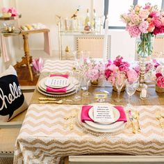 Decor for a ladies dinner!