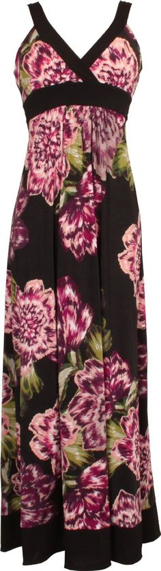 Purple Floral Print Maxi Dress JR Plus Size