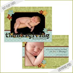 FREE Thanksgiving and Holiday Photo Card Templates+ Digital Papers + More Goodies