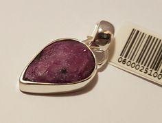 Anhänger Natustein Rubin Rot Unikat Silber925 Heilsteine  Edelsteine neu Mineral