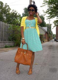 Economy of Style: Old Navy Striped Jersey Dress