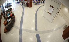 Terrazzo in Universities: University of Memphis. View this terrazzo installation by terrazzo flooring contractor Doyle Dickerson Terrazzo.