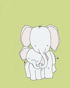 Custom Listing Elephant Nursery Art Print by sweetmelodydesigns, $15.00