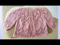Baby Cardigan Knitting Pattern Free, Knitting Patterns Free, Free Knitting, Baby Knitting, Free Pattern, Belle Epoque, Dress With Cardigan, Knitting Videos, Knitting For Kids
