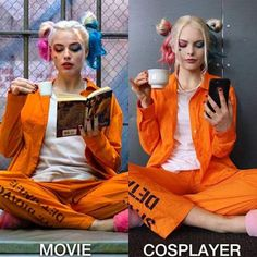 Awesome and Easy DIY Halloween Costumes for Teen Girls - Harley Quinn Halloween Outfits, Halloween Costumes For Teens Girls, Looks Halloween, Great Halloween Costumes, Couple Halloween, Halloween Cosplay, Cool Costumes, Costumes For Women, Cosplay Costumes