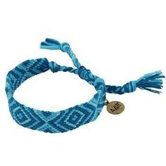 Alpha Delta Pi Friendship Bracelet woven in sorority colors with .4 antique brass charm, measures .625in wide. Adjustable one size fits most.