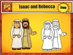 Free Isaac, Rebecca, Jacob, and Esau Clip Art Sample by Ch