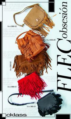Esta temporada ríndete a los flecos. Son el must de la temporada los bolsos son el accesorio estrella de esta tendencia y Cklass te trae increíbles diseños en su colección primavera verano 2016