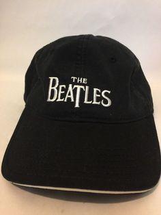 a345e52daca The Beatles A Hard Days Night Black W White Strapback Stitched Hat Cap GUC