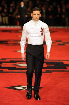 Jamie Bell walking for Prada [Fall 2012 Collection]