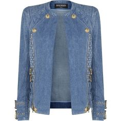 Balmain Denim Biker Jacket found on Polyvore                                                                                                                                                                                 More