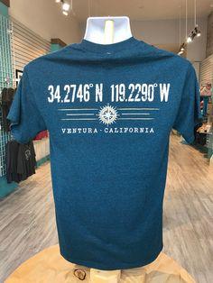 0a38eecf Awesome Ventura T Shirts · Latitudes - Coordinates - Ventura, CA -  Turquoise Tee