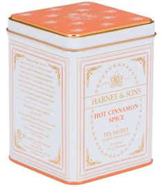 Harney & Sons most popular flavored tea worldwide, Hot Cinnamon Spice is an assertive blend of black teas, three types of cinnamon, orange peel, and sweet cloves. No sugar added.  #Tea
