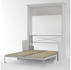 Alegra Wall Bed With Desk - Double Bed - White - Eureka Wall Beds - Apartment Living
