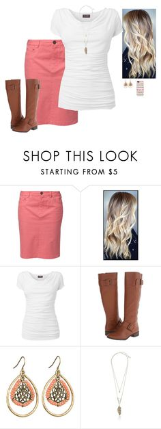 """""""Colored denim contest"""" by dominiquemcain ❤ liked on Polyvore featuring Jackpot, Phase Eight, Nine West, maurices, Steve Madden, Casetify and country"""