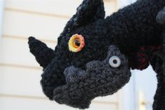 Deathwing from World of Warcraft - CROCHET {make for C, add recordable soundbox with deathwing's roar!)