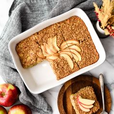 This Apple Cinnamon Baked Oatmeal is a healthy & hearty breakfast recipe that your entire family will love. Gluten, dairy & refined sugar free! Vegan-friendly