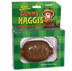 Patrick's Day is almost here and that means it's time to get your shamrock on and celebrate with a big mouthful of Haggis; Gummy Haggis, that is. Scottish Dishes, Snack Recipes, Snacks, Weird Food, Halloween Candy, Halloween Stuff, The Dish, Food For Thought, Food To Make