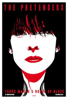 The Pretenders ~ House of Blues: San Diego, CA - March 5, 2009 (concert poster) | artwork by Scrojo
