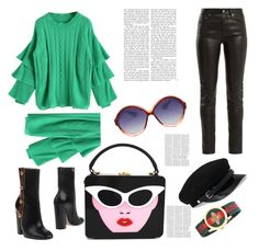 """""""https://www.polyvore.com/cgi/collection?id=7259311"""" by admira-ismail ❤ liked on Polyvore featuring Yves Saint Laurent, Gucci, Victoria Beckham, contest, Sweater and gamiss"""
