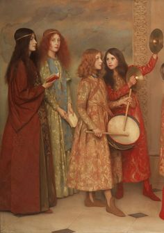 """A Pageant of Childhood"" by Thomas Cooper Gotch, 1899 (detail)"