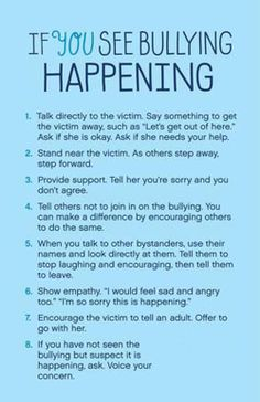 Non-verbal plan to handle bullying. Most of the people do not want to talk about being bullied this could be a gateway to communication or a release of a bully. What Is Bullying, Stop Bullying, Cyber Bullying, Verbal Bullying, Coping Skills, Social Skills, Bullying Prevention, Behavior Management, Conflict Resolution