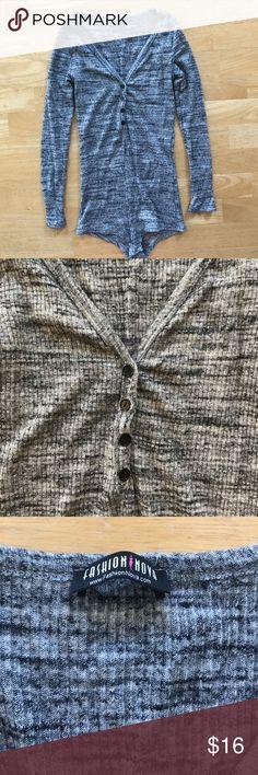🌹FASHION NOVA🌹 grey super Stretch bodysuit This is a beautiful super stretchy bodysuit from fashion nova this is a size medium 43% rayon 48% polyester Fashion Nova Other