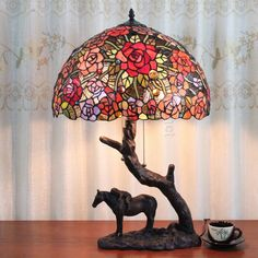 Rose Tiffany Lamp  16S0-67T15C