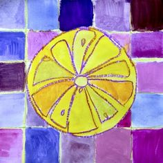 Citrus fruits in complementary colors (Arte a Scuola) Classroom Art Projects, Art Classroom, School Projects, Classroom Ideas, 7th Grade Art, Grade 3, Fourth Grade, Second Grade, Color Art Lessons