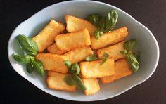 Friterad Halloumi och vegetarisk middag.