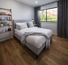 BEDROOM - Symphony Executive with Aspire Facade on Display at Emerald Hills Custom Home Designs, Custom Homes, Home Bedroom, Bedrooms, New Home Builders, Investment Property, Facade, Emerald, New Homes
