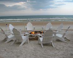 Adirondack chairs and Fire Pit at the Beach.... Paradise! Daytona Beach, FL