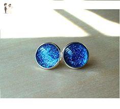 Glittering Midnight Blue Stud Earring - Wedding earings (*Amazon Partner-Link)