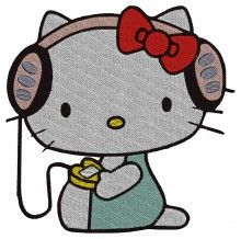 Music Kitty Embroidery brother free embroidery machine designs 4×4