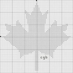 Free Maple Leaf Silhouette Cross Stitch Pattern