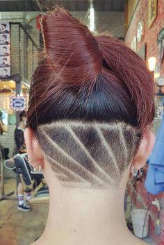 Pompadour Hairstyle, Undercut Pompadour, Undercut Hairstyles, Shaved Hairstyles, Wedding Hairstyles, Undercut Hair Designs, Undercut Women, Short Hair Cuts, Short Hair Styles