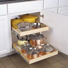 White kitchen pull out shelves ideas
